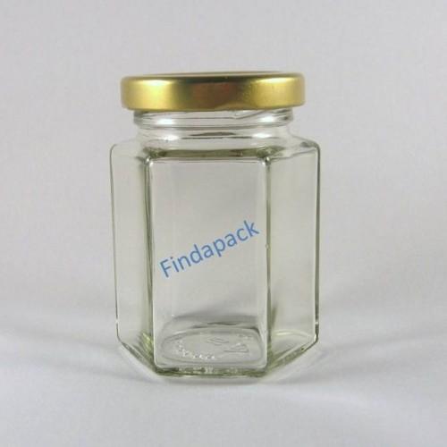Pot Hexagonal 116 ml TO 48 Par Lot de 20  Avec Couvercle