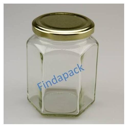 Pot Hexagonal 283 ml TO 63 Par lot de 12 Avec Couvercle