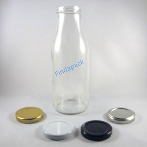 Bouteille Cylindrique  500 ml TO 48 Par lot de 20 Avec Couvercle