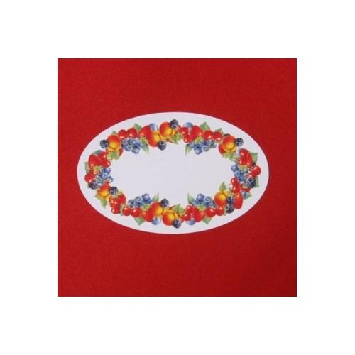 Etiquettes Fruits Ovales - Par Lot de 100