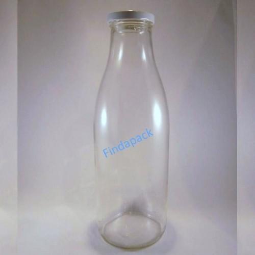 Bouteille Cylindrique  1000 ml TO 48 Par lot de 12 Avec Couvercle