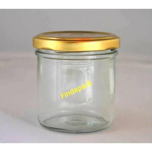 Pot Rond 167 ml TO 66 Par lot de 12 Couvercle Doré
