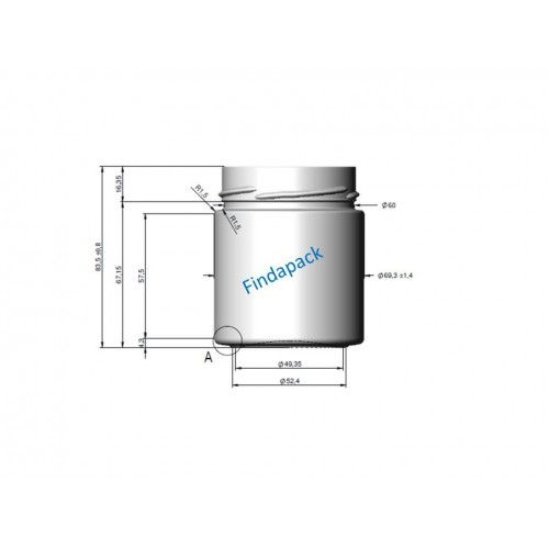 Pot Rond DEEP 225 ml DWO 66 Par lot de 12 Avec Couvercle