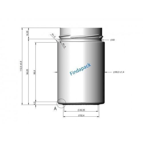 Pot Rond DEEP 327 ml DWO 66 Par lot de 12 Avec Couvercle - Findapack