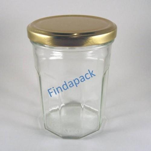 Pot Facettes 385 ml TO 82 Par lot de 12 Avec Couvercle