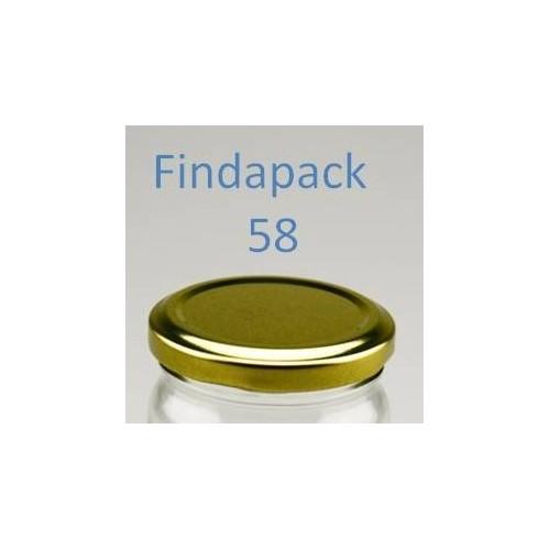 Couvercle Twist-Off 58 sans Bisphenol A - Par Lot de 25