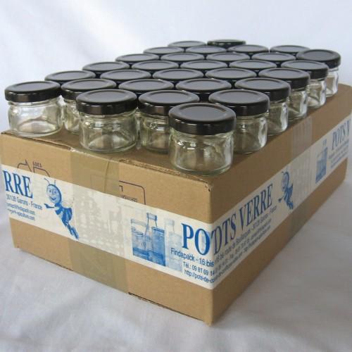 Pot Rond 30 ml TO 43 Par lot de 30 Avec Couvercle
