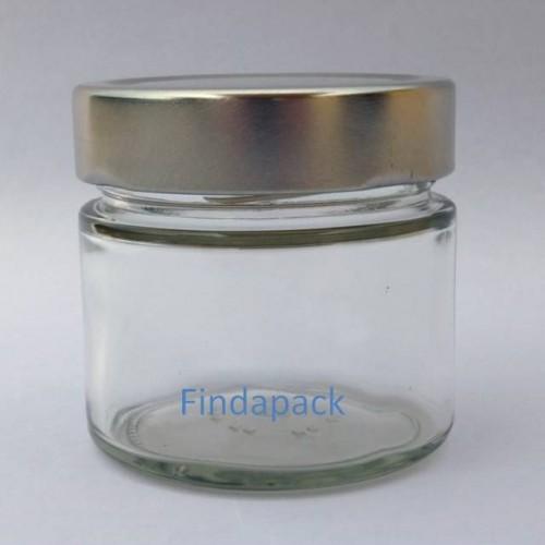 Pot Verre Forme Basse 212 ml TNV 70  Par lot de 12 Avec Couvercle H 18
