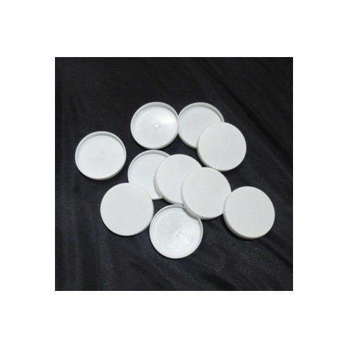 Capsules pot de yaourt à cliper D56 blanc - lot de 10