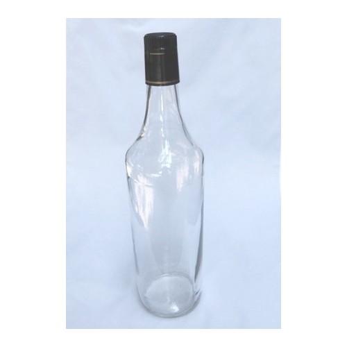 Bouteille Cylindrique Siroptima 1 litre  Par lot de 12 Avec Bouchon Verseur