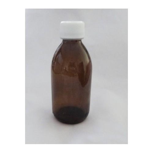 Flacon Sirop 200 ml Verre Brun Complet