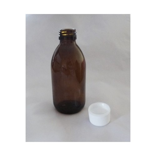 Flacon Sirop 200 ml Verre Brun Complet avec Bouchon